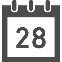 カレンダーのフリーアイコン24 アイコン素材ダウンロードサイト Icooon Mono 商用利用可能なアイコン素材が無料 フリー ダウンロードできるサイト
