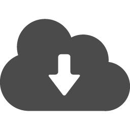 クラウドのダウンロードアイコン アイコン素材ダウンロードサイト Icooon Mono 商用利用可能なアイコン素材が無料 フリー ダウンロード できるサイト