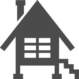 高床式のホームアイコン素材 アイコン素材ダウンロードサイト Icooon Mono 商用利用可能なアイコン素材が無料 フリー ダウンロードできるサイト