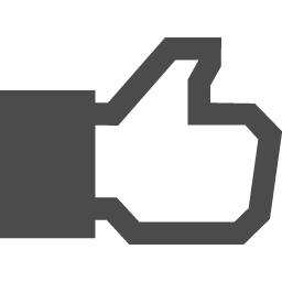 Facebookのいいね風アイコン アイコン素材ダウンロードサイト Icooon Mono 商用利用可能なアイコン素材が無料 フリー ダウンロードできるサイト