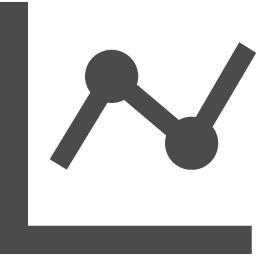 Line Graph Icon アイコン素材ダウンロードサイト Icooon Mono 商用利用可能なアイコン 素材が無料 フリー ダウンロードできるサイト