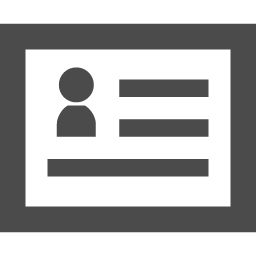 名刺 会員証のアイコン素材 アイコン素材ダウンロードサイト Icooon Mono 商用利用可能なアイコン素材が無料 フリー ダウンロードできるサイト