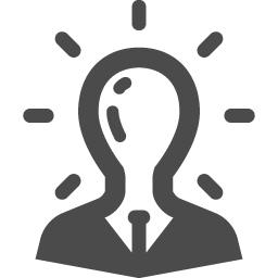 アイデアマンの人物アイコン素材 アイコン素材ダウンロードサイト Icooon Mono 商用利用可能なアイコン素材が無料 フリー ダウンロードできるサイト