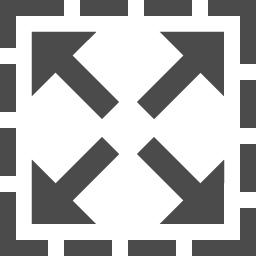 ウィンドウ画面拡大のアイコン素材 アイコン素材ダウンロードサイト Icooon Mono 商用利用可能なアイコン素材 が無料 フリー ダウンロードできるサイト