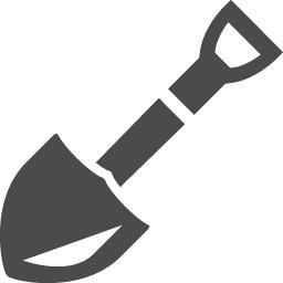 シャベルのアイコン素材 アイコン素材ダウンロードサイト Icooon Mono 商用利用可能なアイコン素材 が無料 フリー ダウンロードできるサイト