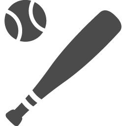 バットとボールのフリーアイコン アイコン素材ダウンロードサイト Icooon Mono 商用利用可能なアイコン素材が無料 フリー ダウンロードできるサイト