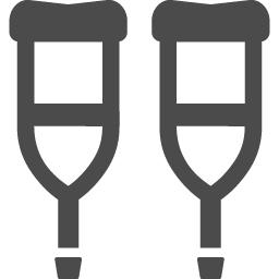 松葉杖のアイコン素材 2 アイコン素材ダウンロードサイト Icooon Mono 商用利用可能なアイコン 素材が無料 フリー ダウンロードできるサイト