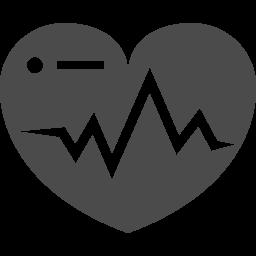 心電図アイコン ハート型 アイコン素材ダウンロードサイト Icooon Mono 商用利用可能なアイコン素材が無料 フリー ダウンロードできるサイト
