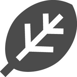 葉っぱのピクトグラム素材 アイコン素材ダウンロードサイト Icooon Mono 商用利用可能なアイコン素材が無料 フリー ダウンロードできるサイト