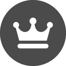 丸枠の中に王冠を配置したアイコン素材 アイコン素材ダウンロードサイト Icooon Mono 商用利用可能なアイコン素材が無料 フリー ダウンロードできるサイト
