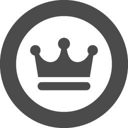 丸枠の中に王冠を配したフリーアイコンその2 アイコン素材ダウンロードサイト Icooon Mono 商用利用可能なアイコン 素材が無料 フリー ダウンロードできるサイト