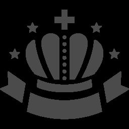 王冠の下にリボンをつけました アイコン素材ダウンロードサイト Icooon Mono 商用利用可能なアイコン素材が無料 フリー ダウンロードできるサイト