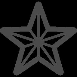 星の線画アイコン アイコン素材ダウンロードサイト Icooon Mono 商用利用可能なアイコン素材が無料 フリー ダウンロードできるサイト
