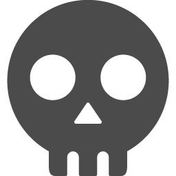 ドクロのフリーアイコン アイコン素材ダウンロードサイト Icooon Mono 商用利用可能なアイコン素材が無料 フリー ダウンロードできるサイト