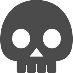 かわいいドクロアイコン アイコン素材ダウンロードサイト Icooon Mono 商用利用可能なアイコン 素材が無料 フリー ダウンロードできるサイト