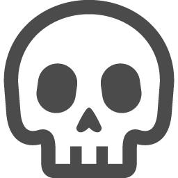 ドクロの線画アイコン アイコン素材ダウンロードサイト Icooon Mono 商用利用可能なアイコン素材が無料 フリー ダウンロードできるサイト