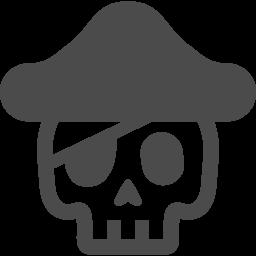 ドクロな海賊さんのフリーイラスト アイコン素材ダウンロードサイト Icooon Mono 商用利用可能なアイコン素材が無料 フリー ダウンロードできるサイト