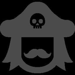少し威厳のありそうな海賊の船長のアイコン アイコン素材ダウンロードサイト Icooon Mono 商用利用可能なアイコン素材が無料 フリー ダウンロードできるサイト