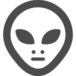 宇宙人グレイの線画アイコン アイコン素材ダウンロードサイト Icooon Mono 商用利用可能なアイコン素材が無料 フリー ダウンロードできるサイト
