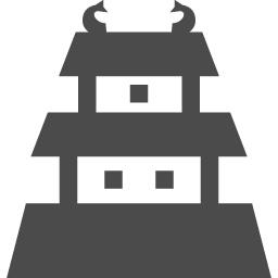 日本式の城のフリーアイコン アイコン素材ダウンロードサイト Icooon Mono 商用利用可能なアイコン素材が無料 フリー ダウンロードできるサイト