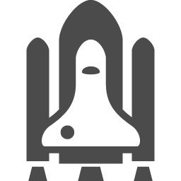 スペースシャトルのフリーアイコン アイコン素材ダウンロードサイト Icooon Mono 商用利用可能なアイコン素材が無料 フリー ダウンロードできるサイト