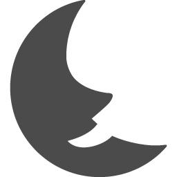 人面三日月のアイコン アイコン素材ダウンロードサイト Icooon Mono 商用利用可能なアイコン素材が無料 フリー ダウンロードできるサイト