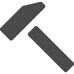 シンプルなハンマーアイコン アイコン素材ダウンロードサイト Icooon Mono 商用利用可能なアイコン素材 が無料 フリー ダウンロードできるサイト