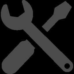スパナとドライバーで設定アイコンの誕生 アイコン素材ダウンロードサイト Icooon Mono 商用利用可能なアイコン 素材が無料 フリー ダウンロードできるサイト