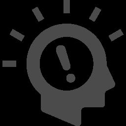 いい考えが浮かんだときのアイコン2 アイコン素材ダウンロードサイト Icooon Mono 商用利用可能なアイコン素材が無料 フリー ダウンロードできるサイト