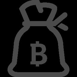 ドル袋の線画アイコン ビットコイン アイコン素材ダウンロードサイト Icooon Mono 商用利用可能なアイコン 素材が無料 フリー ダウンロードできるサイト