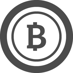 コイン型のビットコインアイコン アイコン素材ダウンロードサイト Icooon Mono 商用利用可能なアイコン 素材が無料 フリー ダウンロードできるサイト
