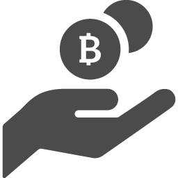 ビットコインを受け取るアイコン アイコン素材ダウンロードサイト Icooon Mono 商用利用可能なアイコン 素材が無料 フリー ダウンロードできるサイト