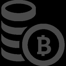 ビットコインを積み上げたお金アイコン アイコン素材ダウンロードサイト Icooon Mono 商用利用可能なアイコン 素材が無料 フリー ダウンロードできるサイト