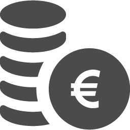 円を積み上げたお金アイコン2 アイコン素材ダウンロードサイト Icooon Mono 商用利用可能なアイコン素材が無料 フリー ダウンロードできるサイト