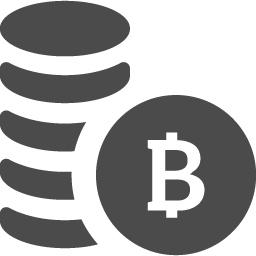 ビットコインを積み上げたお金アイコン2 アイコン素材ダウンロードサイト Icooon Mono 商用利用可能なアイコン 素材が無料 フリー ダウンロードできるサイト