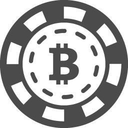 カジノのチップ風ビットコインアイコン アイコン素材ダウンロードサイト Icooon Mono 商用利用可能なアイコン 素材が無料 フリー ダウンロードできるサイト