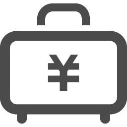 お金が詰まったアタッシュケースアイコン アイコン素材ダウンロードサイト Icooon Mono 商用利用可能なアイコン素材が無料 フリー ダウンロードできるサイト