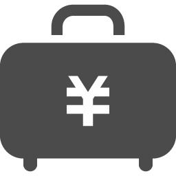 お金が詰まったジュラルミンケースアイコン アイコン素材ダウンロードサイト Icooon Mono 商用利用可能なアイコン素材が無料 フリー ダウンロードできるサイト