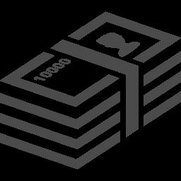 札束のアイコン アイコン素材ダウンロードサイト Icooon Mono 商用利用可能なアイコン素材が無料 フリー ダウンロードできるサイト