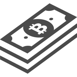 無料で使えるビットコインの札束アイコン アイコン素材ダウンロードサイト Icooon Mono 商用利用可能なアイコン 素材が無料 フリー ダウンロードできるサイト