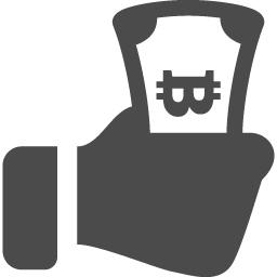 ビットコインを握り締める手のフリーアイコン アイコン素材ダウンロードサイト Icooon Mono 商用利用可能なアイコン素材が無料 フリー ダウンロードできるサイト