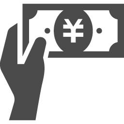 お札を受け取る手のフリーアイコン アイコン素材ダウンロードサイト Icooon Mono 商用利用可能なアイコン 素材が無料 フリー ダウンロードできるサイト