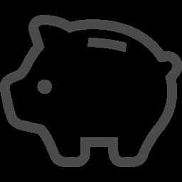 ブタの貯金箱のピクトグラム アイコン素材ダウンロードサイト Icooon Mono 商用利用可能なアイコン素材が無料 フリー ダウンロードできるサイト
