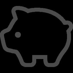 かわいい豚の線画アイコン アイコン素材ダウンロードサイト Icooon Mono 商用利用可能なアイコン 素材が無料 フリー ダウンロードできるサイト
