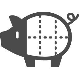 豚肉の部位イラスト アイコン素材ダウンロードサイト Icooon Mono 商用利用可能なアイコン素材が無料 フリー ダウンロードできるサイト
