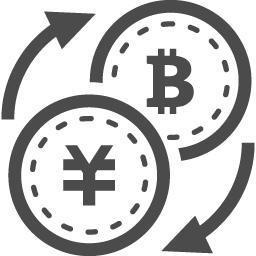 円とビットコインの変換アイコン アイコン素材ダウンロードサイト Icooon Mono 商用利用可能なアイコン 素材が無料 フリー ダウンロードできるサイト