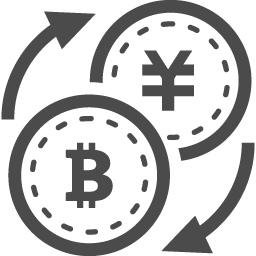 お金とビットコインの交換アイコン アイコン素材ダウンロードサイト Icooon Mono 商用利用可能なアイコン 素材が無料 フリー ダウンロードできるサイト