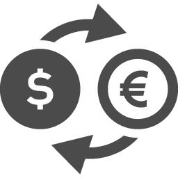 ドルとユーロの為替相場アイコン アイコン素材ダウンロードサイト Icooon Mono 商用利用可能なアイコン 素材が無料 フリー ダウンロードできるサイト