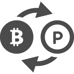 ビットコインとポイントの交換レートアイコン アイコン素材ダウンロードサイト Icooon Mono 商用利用可能なアイコン素材が無料 フリー ダウンロードできるサイト