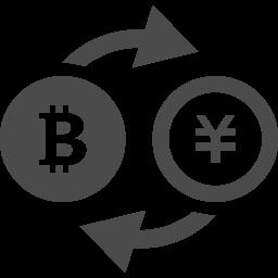 ビットコインと円の為替レートアイコン アイコン素材ダウンロードサイト Icooon Mono 商用利用可能なアイコン素材が無料 フリー ダウンロードできるサイト